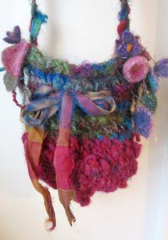 handknit bag rustic fairytale shoulder bag by beautifulplace, $54.00