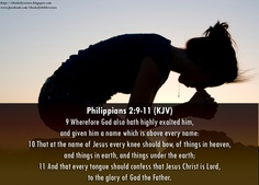 Phillipians 2:9-11 Faith Verses, Biblical Verses, Bible Scriptures, Bible Quotes, Bible Art, G Names, Names Of Jesus, Philippians 2, Colossians 2