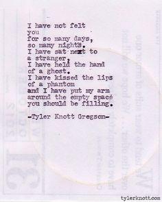 Typewriter Series #221by Tyler Knott Gregson