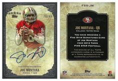 Joe Montana 2012 Topps Five Star FSS-JM Five Star Signature (AU) (Silver) (#23/85)