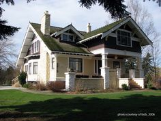 Craftsman House Plans | Tretheway House -1920 Craftsman Style Home and Front Porch