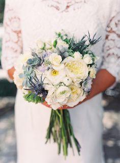 white and blue wedding bouquet http://www.weddingchicks.com/2013/11/27/salt-lake-city-wedding/
