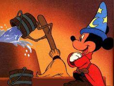 Enter the Movies: My 10 favorite cartoon characters Walt Disney Movies, Walt Disney Co, Arte Disney, Disney Cartoons, Disney Magic, Disney Mickey, Disney Art, Disney Canvas, Fantasia Disney
