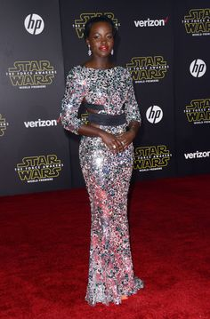 Lupita Nyong'o At The Los Angeles Premiere Of 'Star Wars: The Force Awakens'
