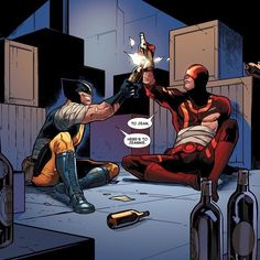I love me a bit of Wolverine and Cyclops bromance...here's the two of them…