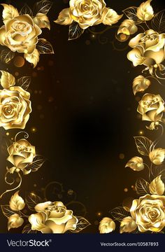 Buy Frame with Gold Roses by on GraphicRiver. Frame with sparkling jewelry, gold roses on a black background. AI and JPEG files are included in a. Gold Glitter Background, Rose Background, Tapete Gold, Wedding Invitation Background, Photo Frame Design, Birthday Frames, Gold Wallpaper, Floral Border, Cellphone Wallpaper