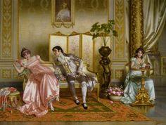 """""""Seduction"""" by Vittorio Reggianini (1858-1938)."""