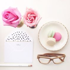 """Merci! #notes #macarons #roses"""