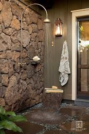 how to build an outdoor shower with rocks - Google Search
