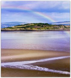 'somewhere over the rainbow there is a pot of gold' view of Crammond Island Edinburgh 2014 by Strathemore Photography
