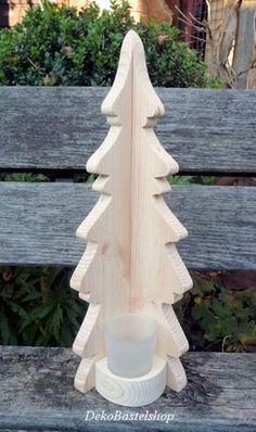 +Holz-Tanne Weihnachtsbaum Deko Licht Weihnachten Holz natur Teelichthalter,Fensterdeko,Weihnachtsdekoration+