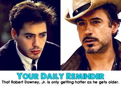 your daily reminder... :) that Robert Downey Jr gets hotter with age.