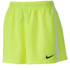 Women's Nike Squad Dri-FIT Woven Soccer Shorts ($27) ❤ liked on Polyvore featuring activewear, activewear shorts, drk yellow, nike sportswear, nike and nike activewear