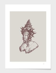 """""""Haute Coiffure /#3"""", Numbered Edition Fine Art Print by Jacques Maes - From $25.00 - Curioos"""