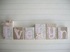 Elegant Wall Art for Nursery Personalized Letter by RessieLillian