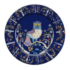 Iittala Taika Dinner Plate, Blue, with Design In Iittala launched the highly individual Taika plate by Klaus Haapaniemi, an internationally renowned illustrator. Klaus Haapaniemi has a very distinctive style of decoration, and combining this style Blue Dinner Plates, Blue Plates, Enchanted Forest Theme, Magic S, Deco Table, Serving Plates, Dining Plates, Wall Plates, Marimekko