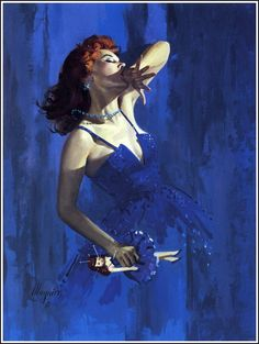 Pulp Cover : by Robert Maguire --Love Blue