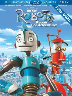 My son wanted this movie when at the store today. We bought it and looking closer at it and watching it I realized that Robin Williams voices the red robot that is seen here. That is not a bad thing.it just makes me sad. Kid Movies, Family Movies, Cartoon Movies, Great Movies, Disney Movies, Movie Tv, Movies And Tv Shows, Robot Cartoon Movie, Children Movies