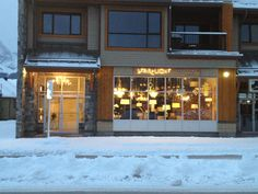 Store front in the middle of a Canadian winter.