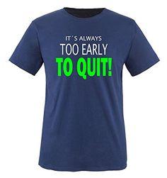 Comedy Shirts - IT'S ALWAYS TOO EARLY... - children T-Shirt camiseta - marina / blanco-neonverde tamaño 110-116 #camiseta #realidadaumentada #ideas #regalo