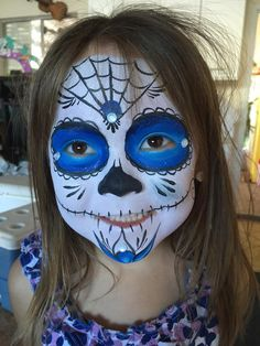 Sugar Skull Face Painting Face Paintings By one of San Diego's Top Face Painters Ramona Williams.  www.welike2partysd.com www.facebook.com/welike2partysd  #bouncehouseRentalsSanDiego  #FacePaintingSanDiego #kidsparty #kidsparties#facepainting  #welike2partsd #hairfeathers   #mobilepettingzoo #mobileminipettingzoo #welike2partysd.com