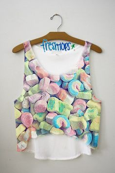 Lucky charms are amazing. Fresh tops are amazing. Therefore, this shirt is amazing. Wear with solid colors