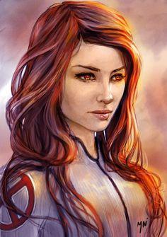 Jean Grey (Marvel Girl/The Dark Phoenix) She even has a X on her arm! Jean Grey Phoenix, Dark Phoenix, Comic Books Art, Comic Art, Book Art, Storyboard, Fantasy Characters, Female Characters, Phoenix Marvel