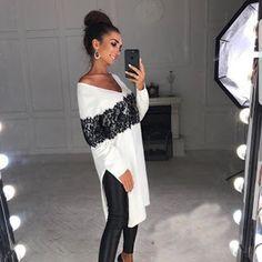 Women Tops Pure Color Bandage Elegant T Shirt Long Sleeve Casual Blouse JIMSHOP
