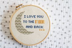 I Love You To The Moon And Back Cross Stitch PATTERN