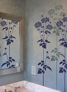 Cutting Edge Stencils - Garden Anemone Flower Stencil