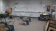 My vandalized classroom.
