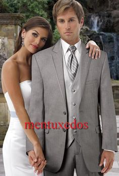 Handsome 2016 Custom Made Wedding Suits For Men Groom / Groomsmen Tuxedos Mens Wedding Suits Jacket+Pant+Vest+Tie Prom Looks For Guys 2015 Prom Mens Suits From Mentuxedos, $77.49  Dhgate.Com