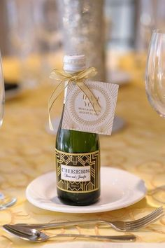 Planning an art deco wedding? Don't forget the favors! Art deco wedding favors can be various but the most popular ones are small bottles of champagne ...