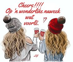 Good morning💕 Illustration by me🍁☕️ - Good Morning Bff Pictures, Best Friend Pictures, Foto Top, Drawings Of Friends, Cute Best Friend Drawings, Girly Drawings, Friends Wallpaper, Christmas Drawing, Coffee Quotes