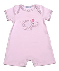 Pink Elephant Pima Romper - Infant by Hug Me First #zulily #zulilyfinds
