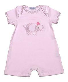 Pink Elephant Pima Romper - Infant by Hug Me First #zulily #zulilyfinds