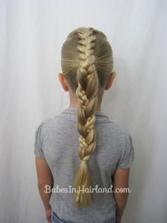 French Braid into a Braided Ponytail from Babes In Hairland