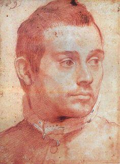 Annibale Carracci ~ Portrait of a Man, c. late 1500s (chalk)