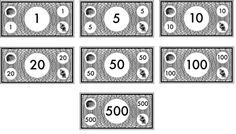 Free Printable Monopoly Money Black And White Play Learning Games