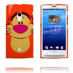 Happy Cartoon (Tiger) Sony Ericsson Xperia X10 Deksel Cartoon Tiger, Happy Cartoon, Xperia X10, Sony