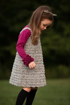 This children's classic jumper is a must-have for every child's wardrobe. Make more than one to match all her tops and she will be the best dressed kid in class. The pattern is an all-seasons style. Work one in acrylic or wool for fall and winter, or grab some cotton for a cute spring classic jumper dress.   Click here to order this PDF: http://www.maggiescrochet.com/products/childrens-classic-jumper-crochet-pattern-download