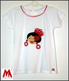 Camiseta flamenca fieltro