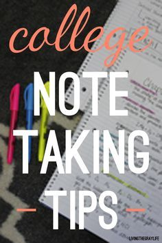 Great tips on how to maximize the efficiency of your notes and get that A!
