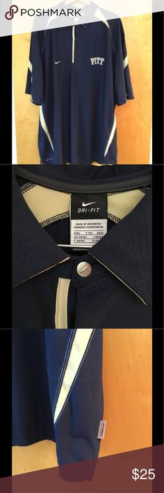Nike Dri-fit Pitt Golf Shirt Nike University of Pittsburgh Golf Shirt in excellent condition! Nike Shirts Polos