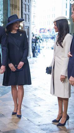 Kate Middleton, duchesse de Cambridge, enceinte, et Meghan Markle - La famille royale d'Angleterre lors de la cérémonie du Commonwealth en l'abbaye Westminster à Londres.