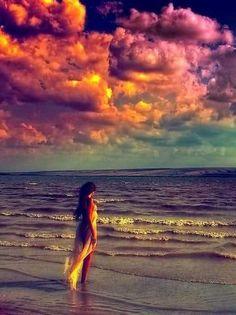Beautiful wahine.. Sand. Sun. Surf. Swim. This is my life