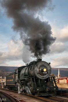 Locomotive 734, Western Maryland Scenic Railroad