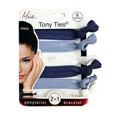 Tony Ties® Solids - Navy, Light Blue, White (6)