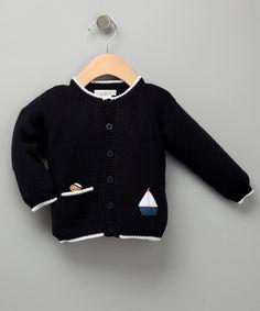Look what I found on #zulily! Navy & White Sailor Bear Pima Cardigan - Infant by Victoria Kids #zulilyfinds
