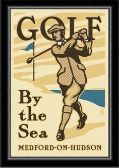 Art Deco 1920's Golf Poster: JM 30th